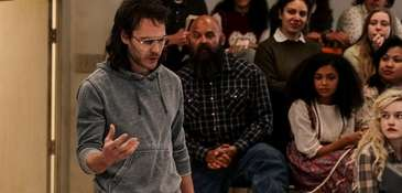 Taylor Kitsch preaches as Branch Davidian leader David