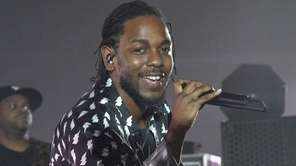 Kendrick Lamar performs at the Faena Art Dome