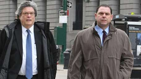 Joseph Percoco, right, and his attorney Barry Bohrer