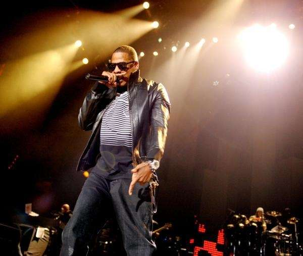 Jay Z performs during his Blueprint 3 Tour