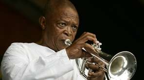 Hugh Masekela performs during the 2006 New Orleans