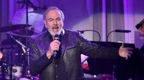Neil Diamond performs at the pre-Grammy gala on
