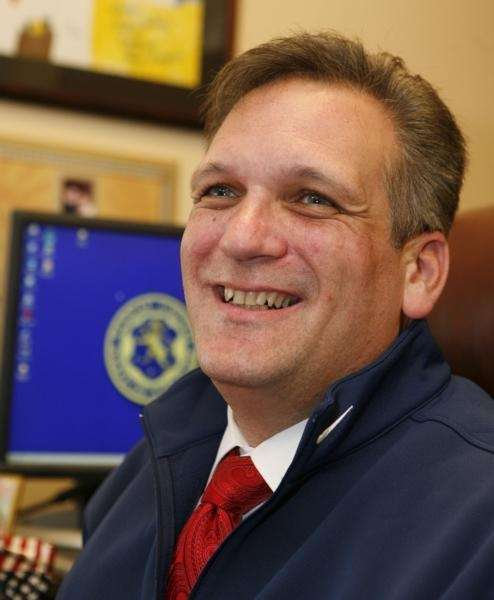 Ed Mangano is all smiles as he is