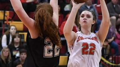 Danielle Cosgrove of Sachem East shoots past Annie