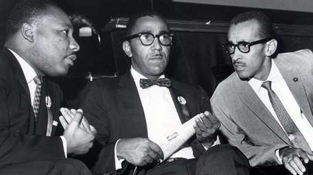 The Rev. Martin Luther King Jr., left, vice