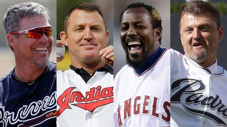 Chipper Jones, Jim Thome, Vladimir Guerrero and Trevor