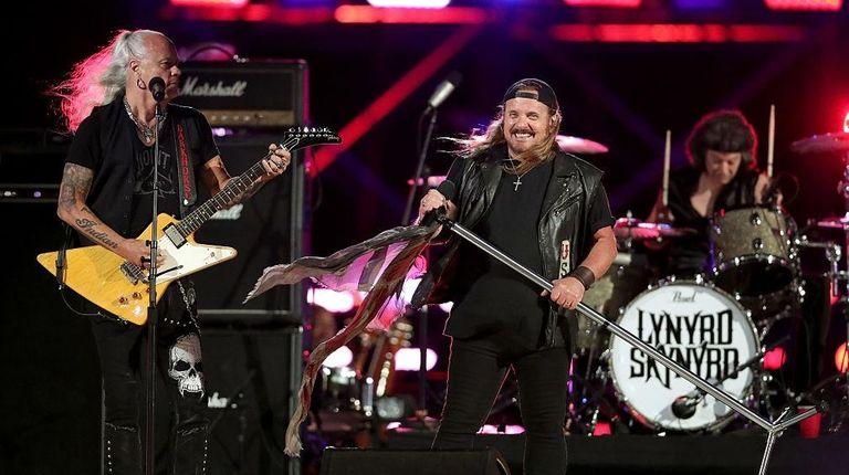 Lynyrd Skynyrd performs onstage during