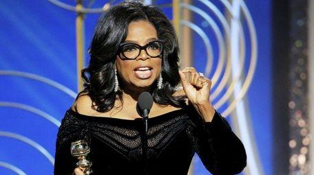 Oprah Winfrey gives a rousing speech about women's