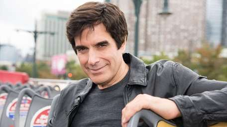 David Copperfield at his Ride Of Fame induction