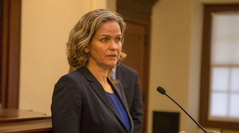 Nassau County Executive Laura Curran speaks Jan. 17,
