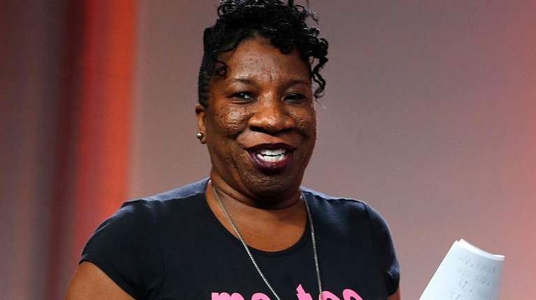 Tarana Burke, founder of the #MeToo movement, seen