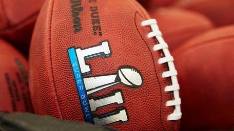 Official balls for the NFL Super Bowl LII