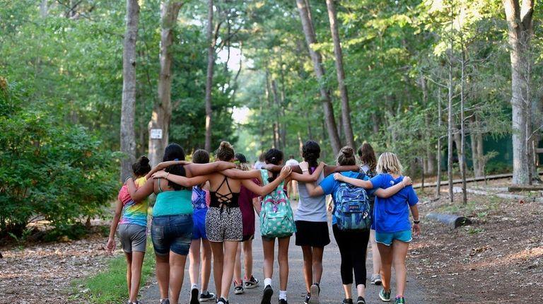 Girl Scout campersat Camp Edey in Bayport, Aug.