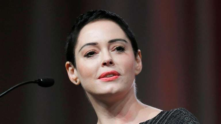Rose McGowan at the inaugural Women's Convention in
