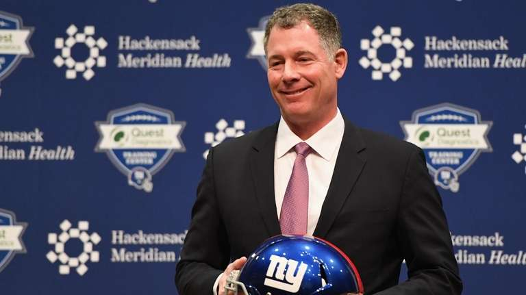 Pat Shurmur is introduced as Giants' new head