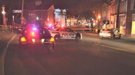 Suffolk County police respond after a pedestrian in