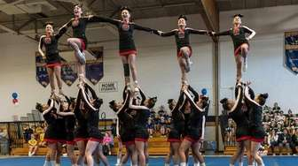 Mt. Sinai competes at the Suffolk cheerleading competition