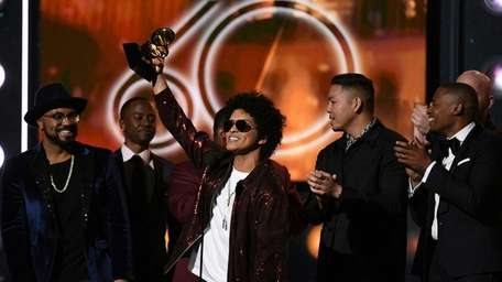 Bruno Mars wins the Grammy for song of