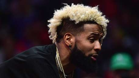 Giants receiver Odell Beckham Jr. at the Clippers-Thunder