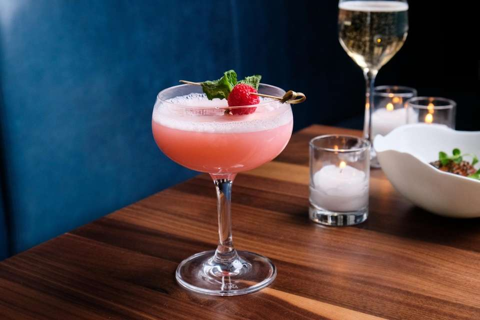 The Clover Club, a cocktail made with gin,