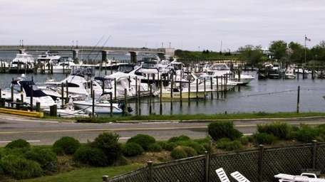 A view of the marina from a second