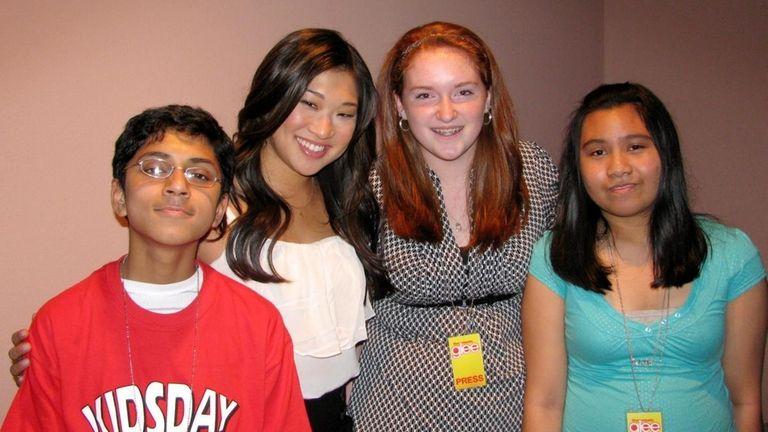 From left, Kidsday reporters Ganesh Ravichandran, Maggie Cotter