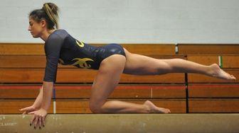 Emily Corso of Massapequa performs on the balance