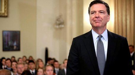 James Comey, former FBI director, seen on July