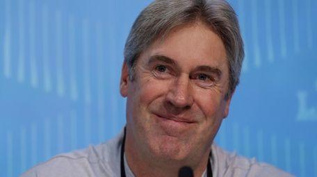 Philadelphia Eagles head coach Doug Pederson smiles during