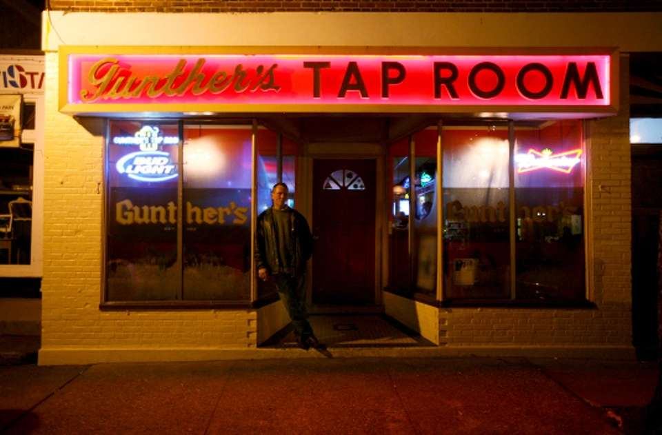 Gunther's Tap Room in Northport has a long