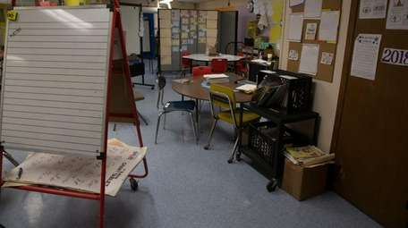 A basement classroom in Northern Parkway Elementary School