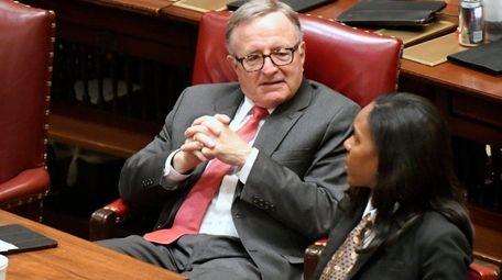 Sen. John DeFrancisco, seen here on March 31,