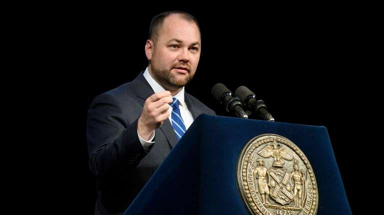 City Council Speaker Corey Johnson, seen at his