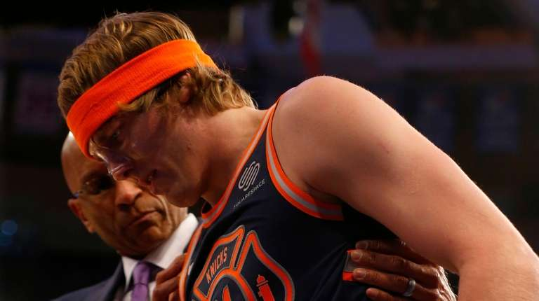 Ron Baker of the New York Knicks in