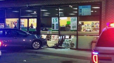 A car struck a 7-Eleven Wednesday, Jan. 31,