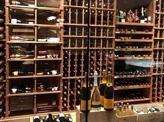 A portion of the wine cellar at The