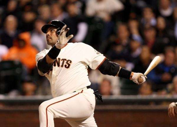 Bengie Molina #1 of the San Francisco Giants
