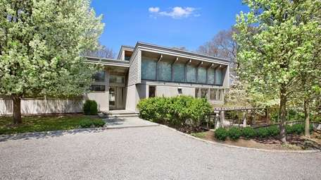 The East Hampton house sits on property with