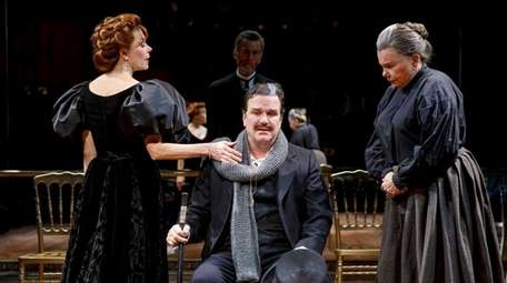 Marin Mazzie, Douglas Hodge and Marsha Mason in