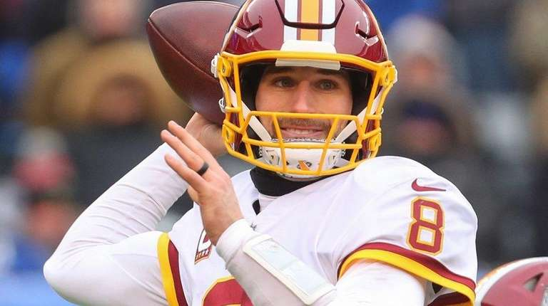 Kirk Cousins who won't be returning