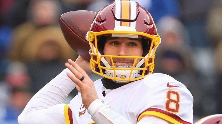 Kirk Cousins, who won't be returning to the