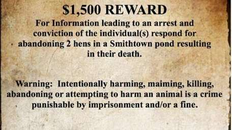 A $1,500 reward is being offered for information