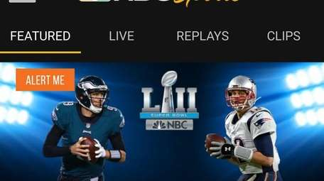 NBC is televising Super Bowl LII and also