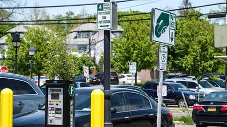 The parking meter program in downtown Bay Shore,