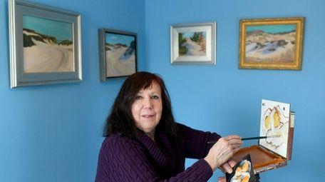 Theodora Zavala, 68, of East Meadow, rediscovered art