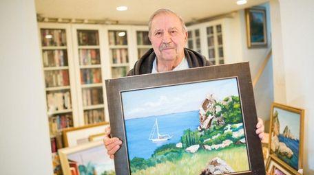 Tony La Marca, 83, shows one of his