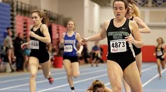 Westhampton Beach's Kayla Berman takes the 600-meter run