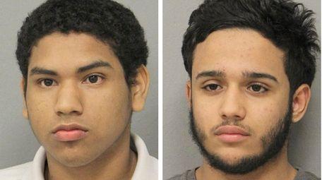 Jordan Calderon, 17, left, and Jefry Martinez, 19,