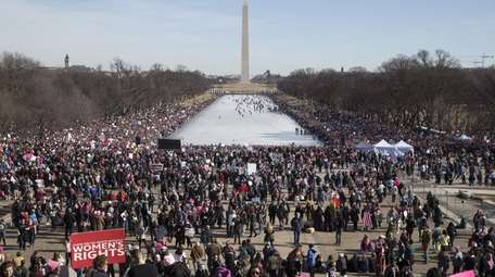 Thousands of people participate in the Women's March,