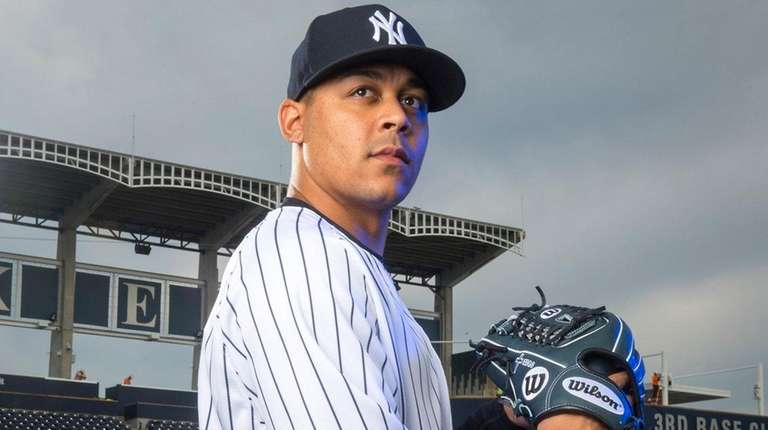 Yankees pitcher Justus Sheffield at spring training at